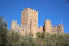 Het Kasteel van Almourol, Portugal Stock Foto's
