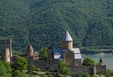 Het kasteel van Ananuri Stock Foto