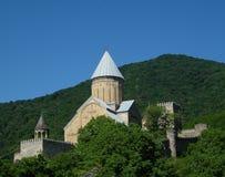 Het kasteel van Ananuri Stock Afbeelding