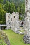 Het Kasteel van Andraz, in het Lagazuoi en 5 Torri gebied, Italië stock fotografie