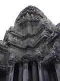 Het kasteel van Angkorwat, Kambodja, de oude die stad van de tempelruïne op witte achtergrond het knippen weg wordt geïsoleerd Royalty-vrije Stock Afbeeldingen