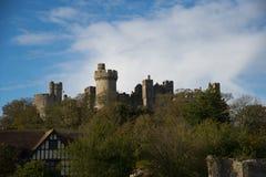 Het kasteel van Arundal Stock Foto's