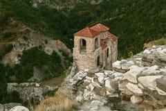 Het kasteel van Asenova stock afbeeldingen