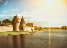 Het kasteel van avondmalbork Royalty-vrije Stock Afbeeldingen