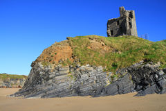 Het kasteel van Ballybunion Stock Foto's