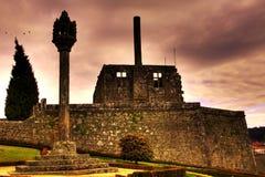 Het kasteel van Barcelos stock foto's