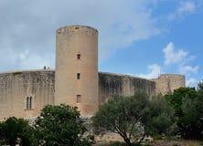 Het kasteel van Bellver Stock Fotografie