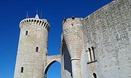 Het kasteel van Bellver Stock Foto