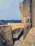 Het Kasteel van Bellver in Palma DE Mallorca, Spanje stock foto