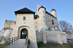Het kasteel van Bobolice Stock Afbeeldingen