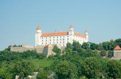 Het Kasteel van Bratislava (foundeb in IX eeuw), Bratislava, Slowakije Royalty-vrije Stock Foto's