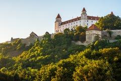 Het kasteel van Bratislava in hoofdstad van Slowaakse republiek Royalty-vrije Stock Foto