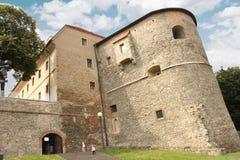 Het Kasteel van Bratislava - muren Royalty-vrije Stock Fotografie