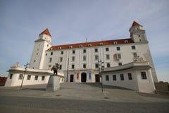 Het Kasteel van Bratislava in Bratislava, Slowakije royalty-vrije stock afbeeldingen
