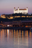 Het kasteel van Bratislava, Slowakije Stock Foto's