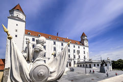 Het kasteel van Bratislava, Slowakije Royalty-vrije Stock Foto