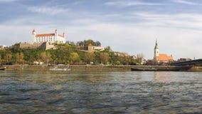 Het kasteel van Bratislava, Slowakije Stock Fotografie