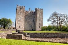 Het Kasteel van Bunratty in Co. Clare - Ierland. Stock Foto's