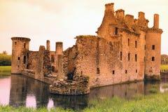 Het kasteel van Caerlaverock, het UK Stock Afbeeldingen