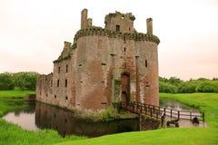 Het kasteel van Caerlaverock, Schotland Stock Fotografie