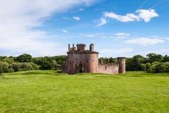 Het Kasteel van Caerlaverock, Schotland stock afbeelding