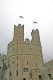 Het Kasteel van Caernarfon in Noord-Wales royalty-vrije stock foto
