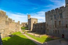 Het kasteel van Caernarfon in Wales royalty-vrije stock foto's