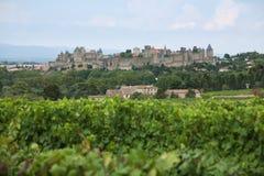 Het kasteel van Carcassonne Stock Foto's