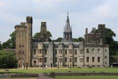 Het Kasteel van Cardiff in de stad Cardiff in Wales royalty-vrije stock fotografie