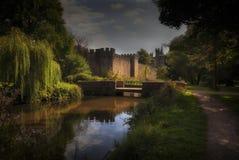 Het kasteel van Cardiff en Bute-Park royalty-vrije stock afbeeldingen
