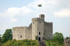 Het Kasteel van Cardiff in Wales Stock Afbeeldingen