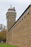 Het kasteel van Cardiff, Wales stock foto