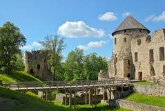 Het kasteel van Cesis Stock Afbeeldingen