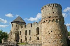 Het kasteel van Cesis royalty-vrije stock afbeeldingen