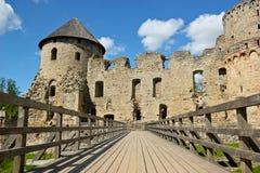 Het kasteel van Cesis Stock Afbeelding