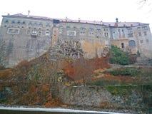 Het kasteel van Ceskykrumlov Stock Foto's