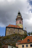 Het kasteel van Ceskykrumlov Stock Afbeelding