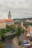 Het kasteel van Ceskykrumlov Royalty-vrije Stock Afbeeldingen