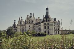 Het kasteel van Chambord in Frankrijk europa royalty-vrije stock foto