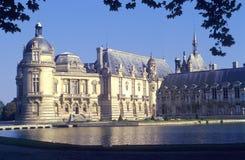 Het kasteel van Chantilly stock afbeelding