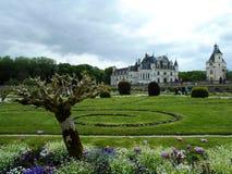 Het Kasteel van Chenonceau, Frankrijk stock foto