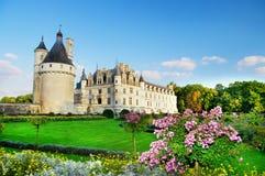 Het kasteel van Chenonseau - de vallei van de Loire Stock Afbeeldingen