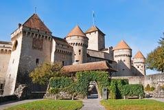 Het kasteel van Chillon Stock Afbeeldingen