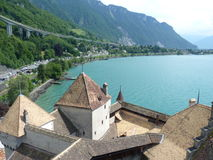Het Kasteel van Chillon Stock Foto's