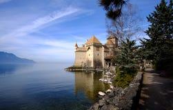 Het kasteel van Chillon, Zwitserland Royalty-vrije Stock Afbeelding