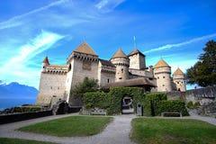 Het kasteel van Chillon, Zwitserland Stock Afbeelding