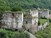 Het kasteel van Chortkiv van het steenvestingwerk Stock Fotografie
