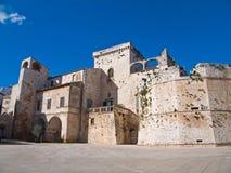 Het kasteel van Conversano. Apulia. stock foto