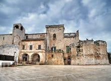 Het Kasteel van Conversano. Apulia. Stock Foto's