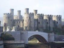Het kasteel van Conwy Stock Afbeeldingen